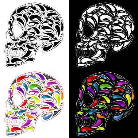 inevitability: Skull in four versions