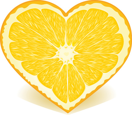 cuore giallo: Orange