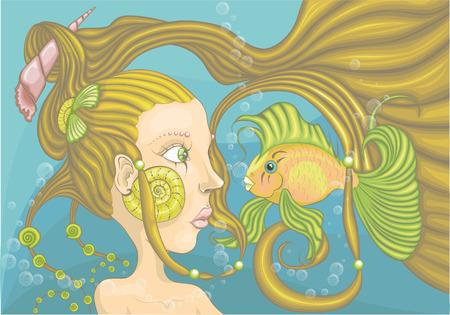 mermaid Ilustração