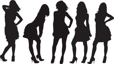party silhouettes: silhouette Illustration