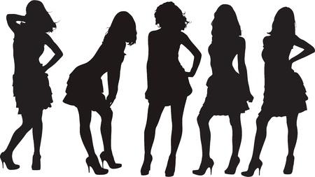 men and women: silhouette Illustration