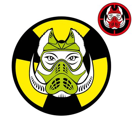 boar head in the paintball mask Vector