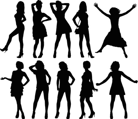 college girl: silhouettes