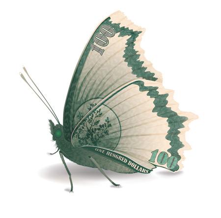 bringing: Butterfly, bringing money