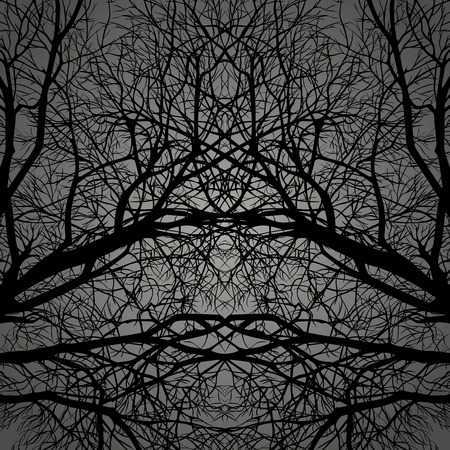 Branches ebony intertwined.