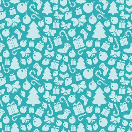 paraphernalia: seamless pattern with Christmas paraphernalia. Illustration
