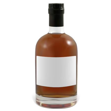 cognac: Realistic bottles of cognac.  Illustration contains gradient meshes.