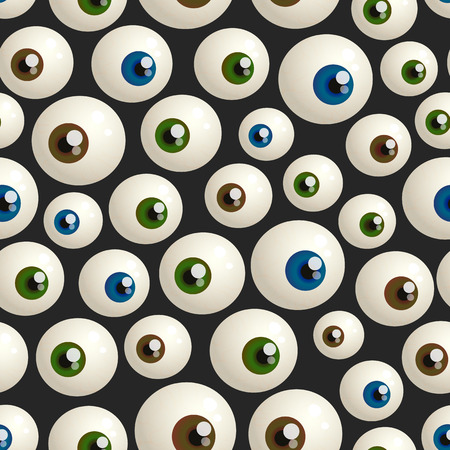 capillary: seamless pattern for Halloween with eyeballs