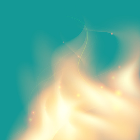 gently blue: Gently blue background with soft yellow flame. Illustration contains gradient mesh.