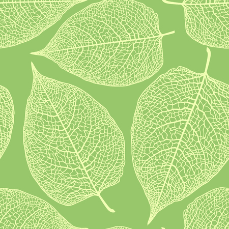 cleft: Vector seamless pattern with large skeletonized leaves.