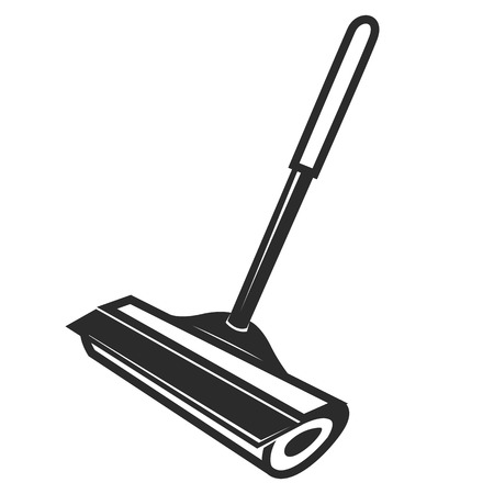 � wash: Iconos del vector negro raspador sobre un fondo blanco