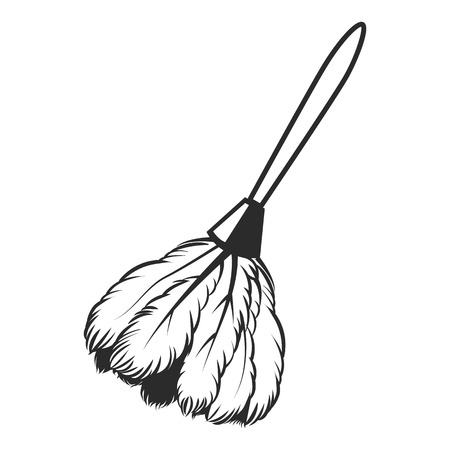 duster: Black vector icons duster on a white background Illustration