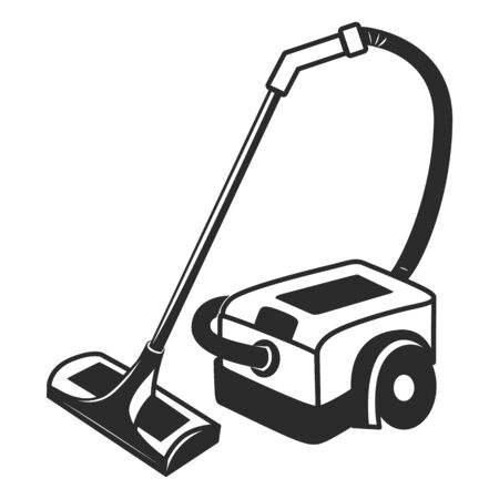 hoover: vector black hoover icon on white background