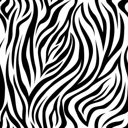 ベクトルのゼブラ ストライプのシームレスなパターン。背景、背景、印刷物の生地。