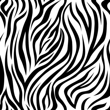Vector seamless pattern with zebra stripes. Background, backdrop, print fabric.