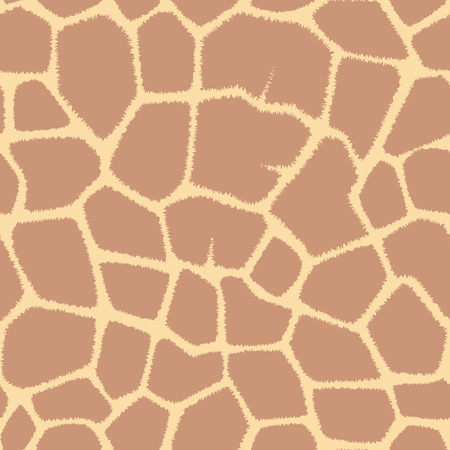 Vector seamless pattern with spots giraffe.