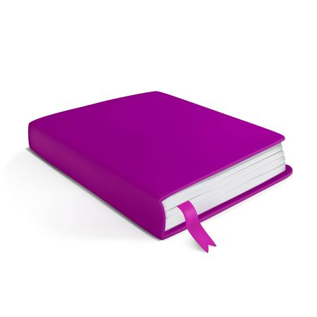 jotter: realistic little pink notebook on a white background Illustration