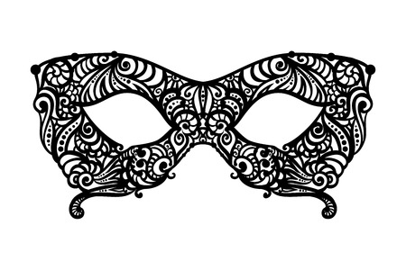 Monochrome vector Masquerade Mask. Design element for cards, invitations, posters. Illustration