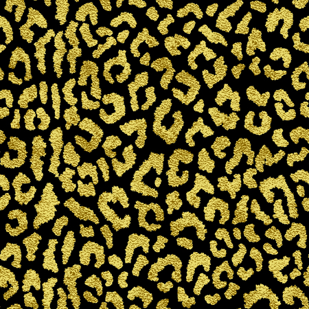 glowing skin: Vector seamless pattern with gold spots leopard. The backdrop for the printed products, web design, postcards, banners, etc.