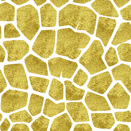 glowing skin: Vector seamless pattern with gold spots giraffe. The backdrop for the printed products, web design, postcards, banners, etc. Illustration