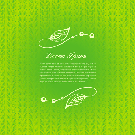 Green calligraphic elements Illustration