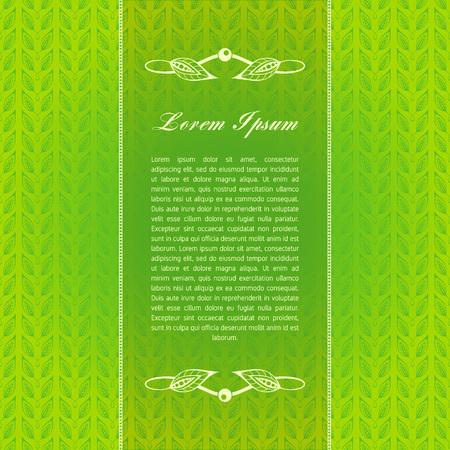 green calligraphic elements