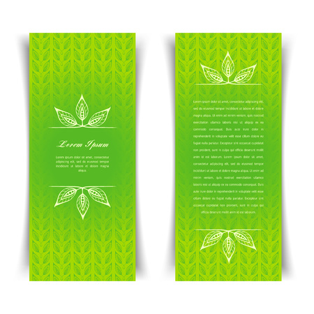 Green calligraphic elements Illustration