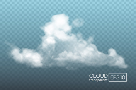 Transparent realistic cloud. Can be used as a decorative element or for creating a background. Stock Illustratie