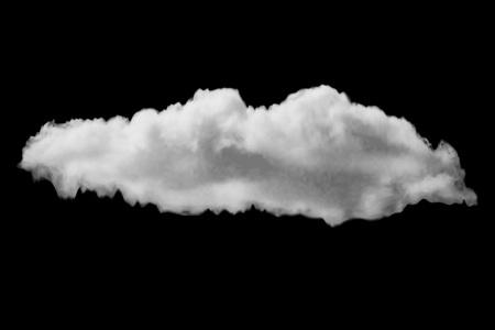 cumulus realistic cloud Stock Illustratie