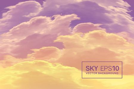 realistic violet-orange sky