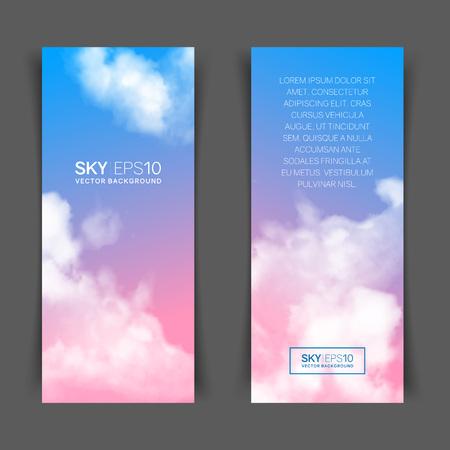 realistic pink-blue sky Ilustração
