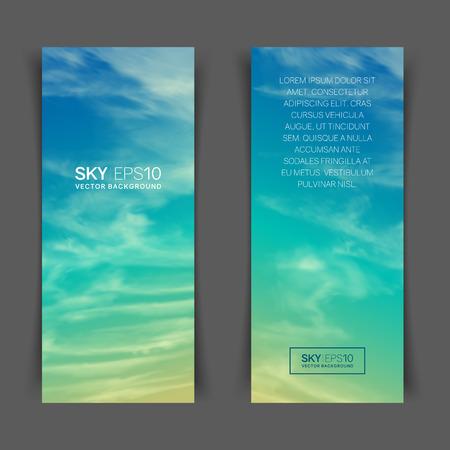 realistic turquoise-yellow sky
