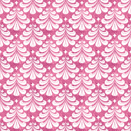 Seamless vector pattern with stylized christmas trees on pink background. Christmas edition. Perfect for greeting cards, wrapping paper, banners, etc.