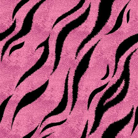 Seamless pink tiger skin pattern. Glamorous tiger skin print, texture, background. Reklamní fotografie - 126768409