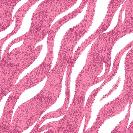Seamless pink tiger skin pattern. Glamorous tiger skin print, texture, background.