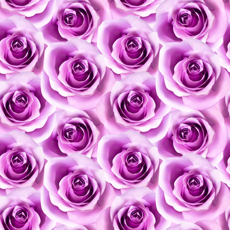 Vector seamless pattern with photorealistic pink roses. Beautiful floral background. Can be used for textile, book cover, packaging, wedding invitation. Reklamní fotografie - 124635820