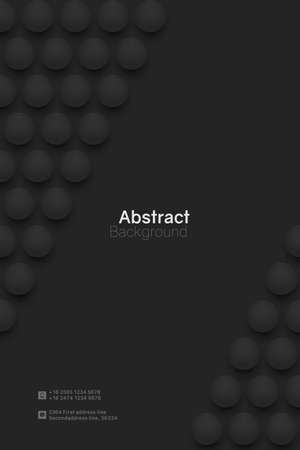 Abstract circle background. 3D spheres. Vertical minimalistic banner template. Vector illustration with mesh gradients. 矢量图像