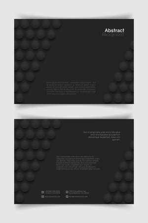 Abstract a4 circle background. 3D spheres. Horizontal minimalistic banner template. Vector illustration with mesh gradients.