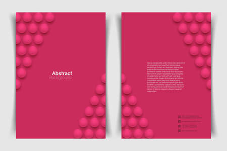Abstract a4 circle background. 3D spheres. Minimalistic banner template. Vector illustration with mesh gradients.