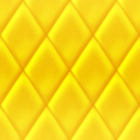 Yellow background with rhombus indentations. Seamless geometric pattern with rhombus .