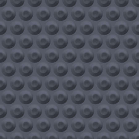 Grey background with circular indentations. Seamless geometric pattern with circles.
