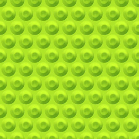 Green background with circular indentations. Seamless geometric pattern with circles.