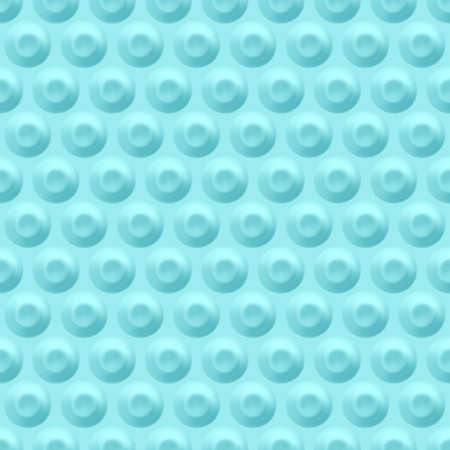 Blue background with circular indentations. Seamless geometric pattern with circles.