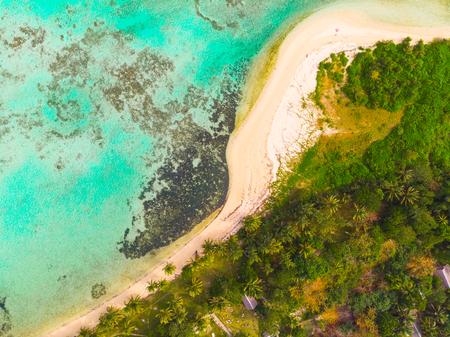 AERIAL: Beach in Madagascar Stok Fotoğraf