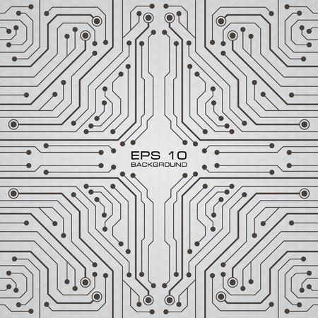 printed circuit: Printed Circuit Board vector background