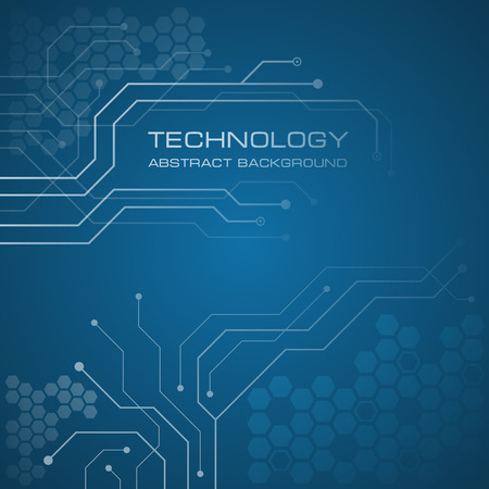Printed circuit board vector background.