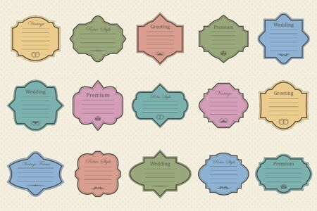 Vintage vectors frames on background