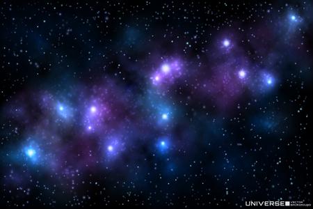 Vector illustration of realistic beautiful nebula with shining stars, cosmic background. 일러스트