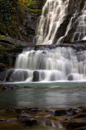 Long cascade with foots Stock Photo - 357846