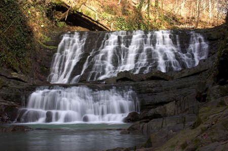 Long cascade with foots Stock Photo - 357836